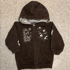 Boys 2T Quiksilver zip hoodie